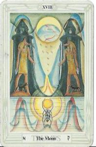 The Moon, Thoth Tarot