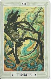 Thoth Tarot, Death and Scorpio